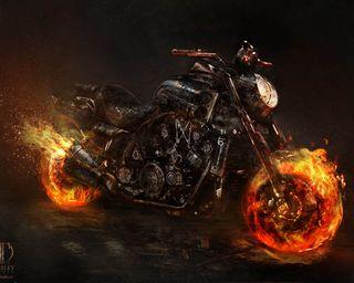 Обои на телефон ямаха, фильмы, призрак, поездка, пламя, огонь, новый, мотоцикл, всадник, байк, yamaha, vmax, hd, ghost ride bike hd, ghost