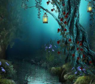 Обои на телефон свечи, остров, розы, природа, огни, ночь, лес, крутые, night lights