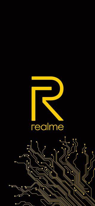 Обои на телефон слово, черные, логотипы, realme