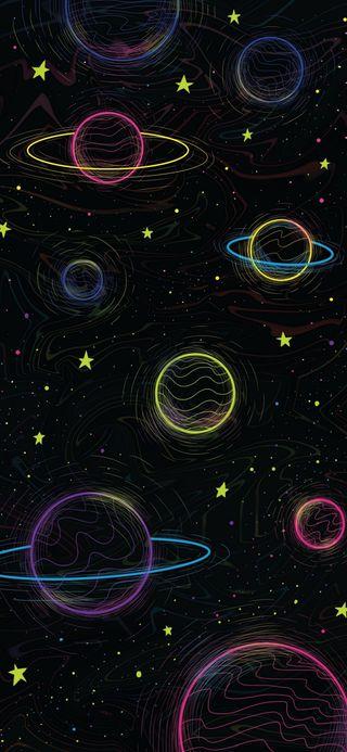 Обои на телефон цифровое, знаки, вселенная, векторные, арт, абстракция, art