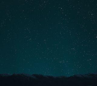 Обои на телефон фотошоп, фото, темные, ночь, звезды, горы, nighttime