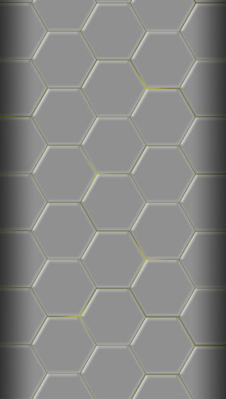 Обои на телефон многоугольник, серые, металл, желтые, дизайн, hive, beehive