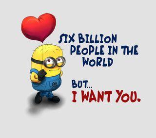 Обои на телефон цитата, ты, сердце, поговорка, миньоны, милые, любовь, love, i want you, i love you, hd