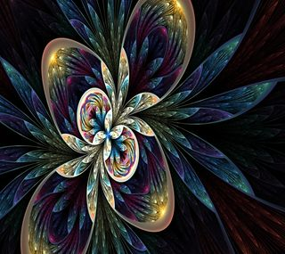 Обои на телефон фрактал, цветы, абстрактные