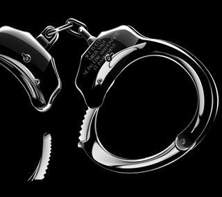 Обои на телефон полиция, черные, темные, серебряные, люди, готические, блестящие, арт, cuffs, art