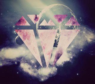 Обои на телефон бриллиант, розовые, галактика, wierd diamond, galaxy
