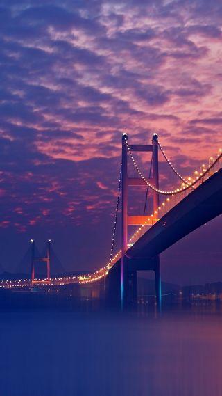 Обои на телефон мост, природа, облака