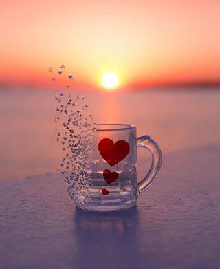 Обои на телефон good, love in a mug, любовь, утро, формы