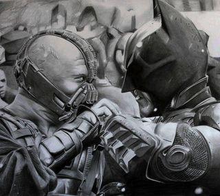 Обои на телефон против, фильмы, темные, рыцарь, бэтмен, бэйн, арт, rises, art bane vs batman, art