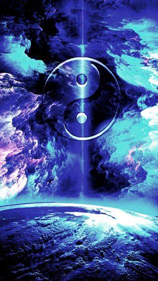 Обои на телефон янь, шторм, космос, земля, ying