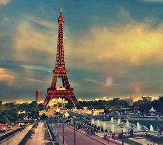 Обои на телефон эйфелева башня, париж, приятные, прекрасные, пейзаж, башня, hd