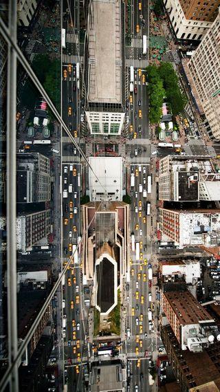 Обои на телефон новый, машины, йорк, дорога, город, up