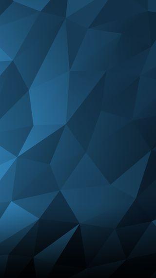 Обои на телефон многоугольник, синие, поли, геометрические, poly wallpaper blue