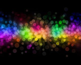 Обои на телефон цветные, боке, темные, радуга, круги, красочные, абстрактные, multicolor abstract