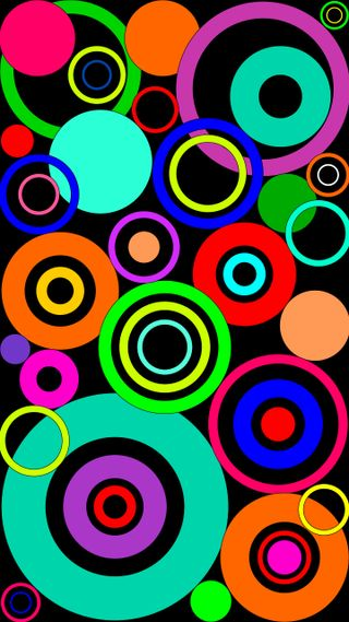Обои на телефон черные, цветные, круги, айфон, абстрактные, windows, iphone, cerchi colorti, cerchi
