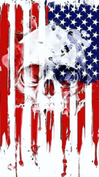 Обои на телефон череп, флаг, американские, merica