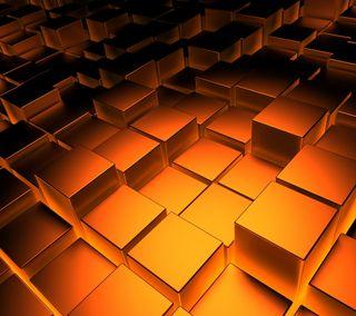 Обои на телефон кубы, золотые, абстрактные, golden cubes, gold cubes