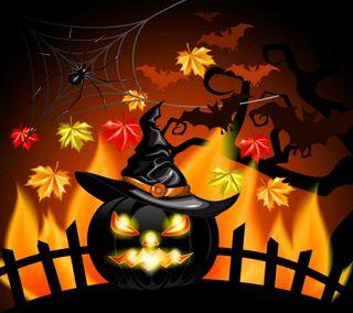 Обои на телефон festive halloween, хэллоуин, страшные, тыква, праздничные, угощение