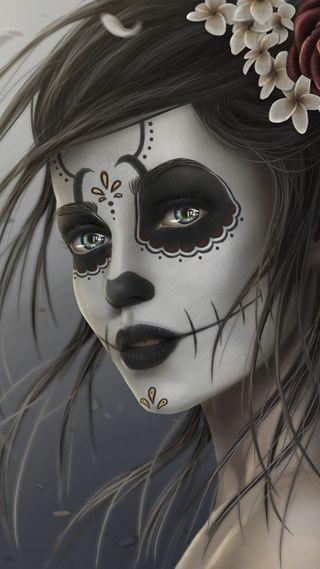 Обои на телефон gothic skull candy, девушки, череп, женщина, готические, конфеты, готы