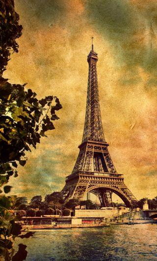 Обои на телефон франция, ретро, река, париж, любовь, город, винтаж, башня, city of love