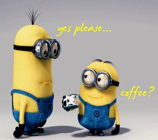 Обои на телефон кофе, миньоны