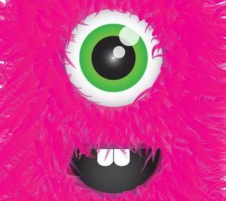 Обои на телефон розовые, пушистый, милые, восхитительные, monster, fuschia monster