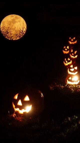 Обои на телефон хэллоуин, ночь, духовные