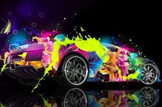 Обои на телефон изображение, машины, 3д, 3d clorful car, 3d