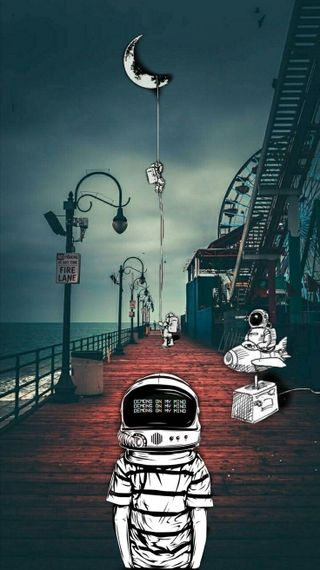 Обои на телефон космонавт, луна, космос, винтаж, s8, pez, man