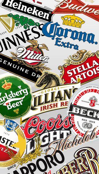 Обои на телефон алкоголь, фан, пиво, логотипы, коллаж, beers
