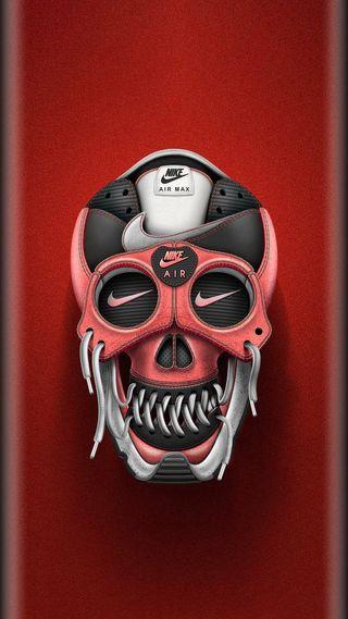 Обои на телефон череп, хоккей, поле, найк, крутые, грани, nike, lacross, hd, air, 929