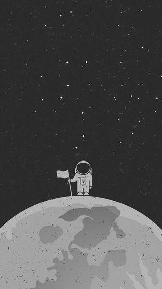 Обои на телефон космос, луна, космонавт