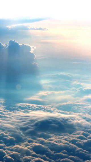 Обои на телефон солнечный свет, природа, облачно, облака, небо
