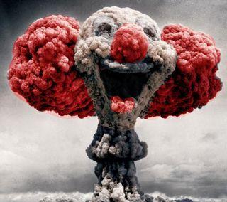 Обои на телефон ядерные, клоун, забавные, бомба, surprise clown bomb