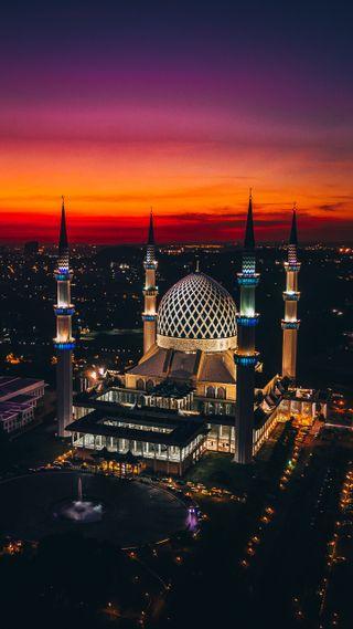 Обои на телефон мечеть, малайзия, salahudddin