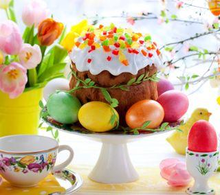 Обои на телефон торт, яйца, праздник, пасхальные, easter cake and eggs