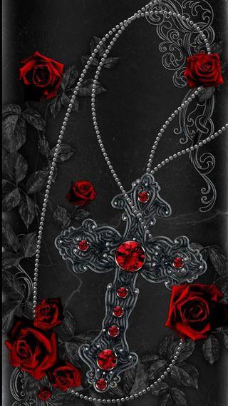 Обои на телефон крест, христианские, розы, исус