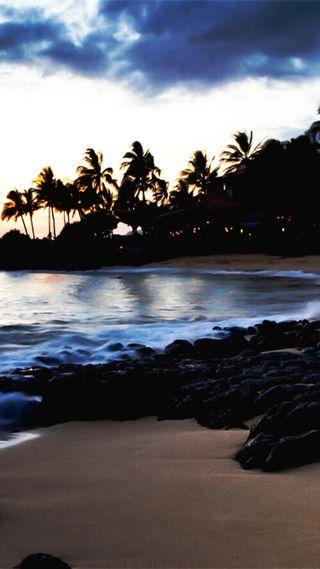 Обои на телефон облачно, удивительные, пляж, песок, море, вид, amazing view