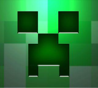 Обои на телефон майнкрафт, фан, крипер, зеленые, блоки