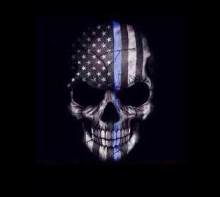 Обои на телефон американские, череп, american skull