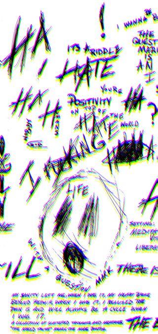 Обои на телефон рисунки, x*xtentacion drawing