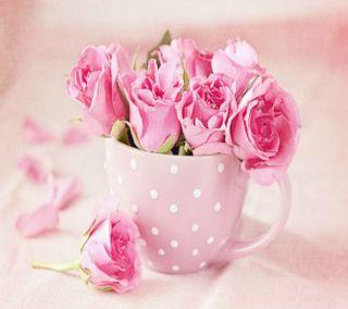 Обои на телефон чашка, розы, cup