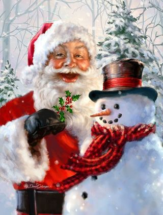 Обои на телефон санта, рождество, marry christmas