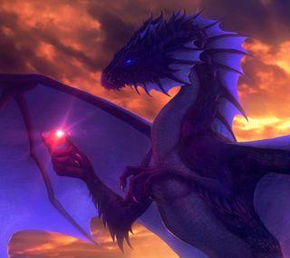 Обои на телефон дрейк, пламя, огонь, мудрость, камни, змея, змеевидный, дракон, dragon philosopher, dragon