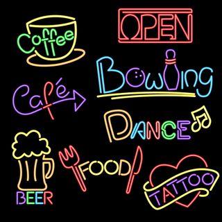 Обои на телефон тату, танец, пиво, открыто, неоновые, красочные, кофе, знаки, абстрактные