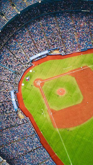 Обои на телефон спортивные, поле, бейсбол, mlb, bluejays