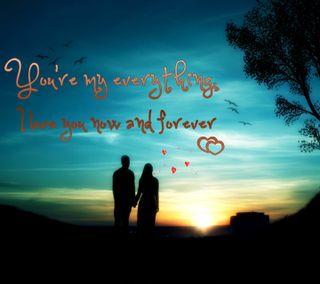 Обои на телефон твой, романтика, приятные, природа, пара, новый, навсегда, мой, любовь, закат, your my everything, love
