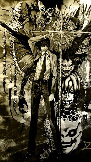 Обои на телефон дьявол, темные, смерть, свет, light yagami