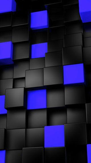 Обои на телефон кубы, синие, mvp cubes