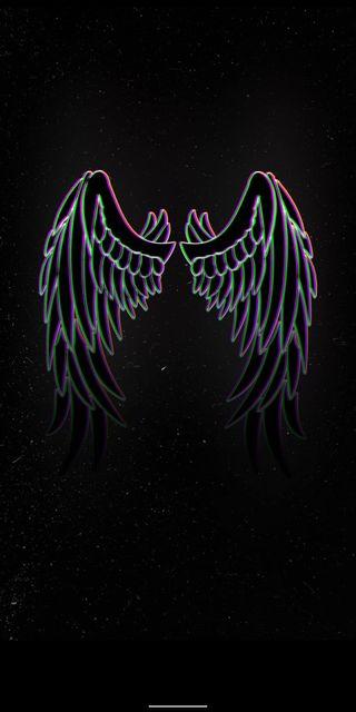 Обои на телефон черные, темные, пабг, неоновые, крылья, бабочки, аниме, pubg, animations